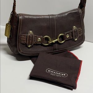 COACH RARE AUTHENTIC DISTRESSED BROWN LEATHER